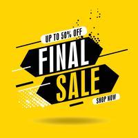 Dynamic Final Sale Banner, bis zu 50 Rabatt. Vektor-illustration Moderne Flash Sale Banner. Verkaufsfahnen-Schablonendesign. vektor