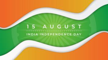 Indien Independence Day Abstrakt bakgrund vektor