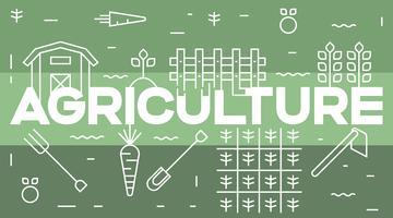 Landwirtschaft und landwirtschaftliche Typografie