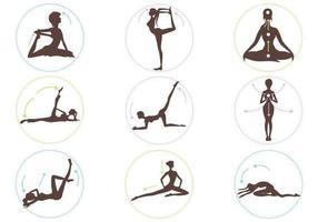 Yoga-Stellungs-Vektor-Pack