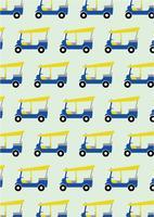 Taxi Tuk Tuk Muster Hintergrund vektor