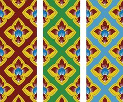 Thai traditionell stil konst mönster i vektor