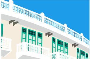 Altmodischer Gebäudevektor vektor
