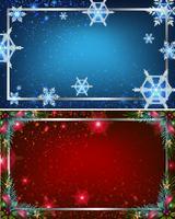 Två bakgrundsmallar med blå och röda färger vektor
