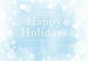 Wintery Happy Holidays Vector Bakgrund