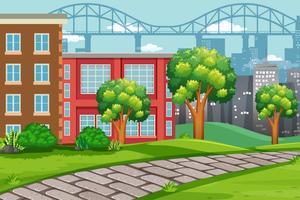 Utomhus urban landskap scen vektor