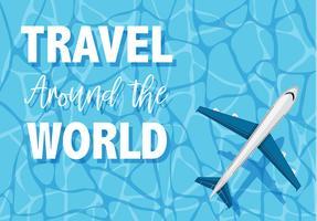 Um die Welt reisen vektor
