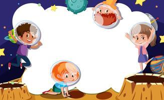 junge Astronauten Rahmenkonzept vektor