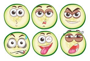 Sex olika uttryckssyn