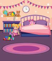 Eine Mädchenschlafzimmerschablone