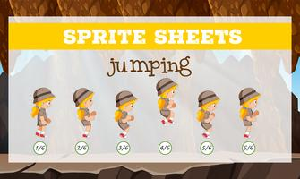 Sprite Sheet Girl Jump vektor