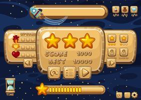 Spieldesign mit Raum im Hintergrund vektor