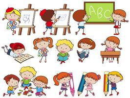 Eine Reihe von Studenten in der Schule vektor