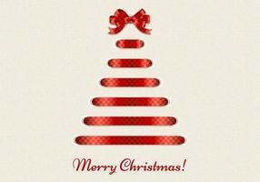 Dekorativer Band-frohe Weihnacht-Vektor-Hintergrund