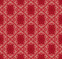 Rote nahtlose dekorative Musterdesignluxusschablone.