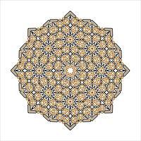 mandala prydnad bakgrund. Round Vintage dekorativa element. vektor