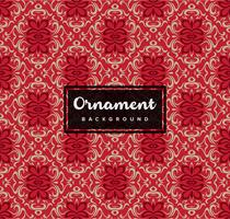 Sömlös dekorativ dekorativ bakgrund med röd färg vektor