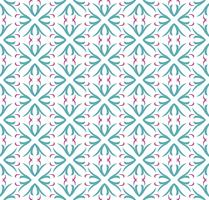 Seamless abstrakt blommönster. symmetri modern stil