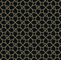 Vektor moderna geometriska plattor mönster. guldformad form. Abstr
