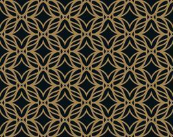 Nahtloses Muster. Elegante lineare Verzierung. Geometrisches stilvolles BAC vektor