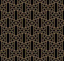 Moderne geometrische Luxusverzierungen mit Linien nahtlose Muster vektor
