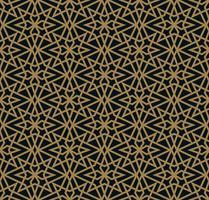 Modernes geometrisches Fliesenmuster des Vektors. golden gezeichnete Form. Abstr