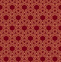 Seamless vektor prydnad. Modernt snyggt geometriskt linjärt mönster med guldfärg