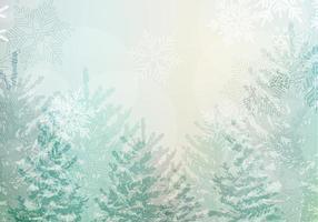 Snöig Vinter Landskap Vector Bakgrund Pack