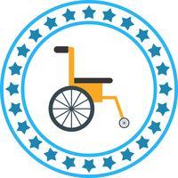 Vektor-Rollstuhl-Symbol vektor