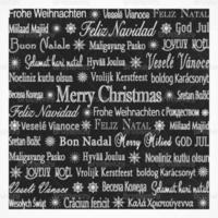Kreide gezeichneter mehrsprachiger Feiertags-Vektor-Hintergrund