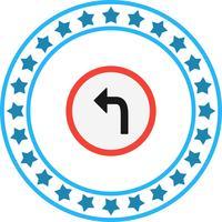 Vektor Links abbiegen-Symbol