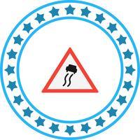 Vektor rutschige Straßenschild-Symbol