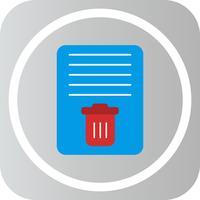 Vektordokumenten-Papierkorb-Symbol vektor