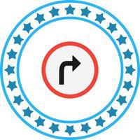 Vektor rechts abbiegen Symbol