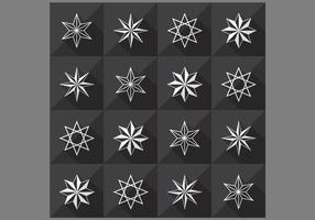 Seamless Star Pattern Vector