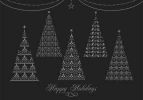 Dekorativ julgran vektor