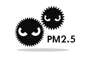 Den dammiga tecknade ikonen PM2.5 är ett stort problem i Bangkok, Thailands huvudstad. vektor