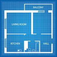 Grundriss der Wohnung vektor