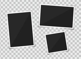 Vektorsatz des Schablonenfotorahmens. auf transparentem Hintergrund zu isolieren. vektor