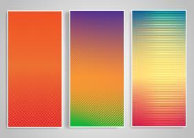 Banner-Vorlagen mit gestreiften Designs vektor