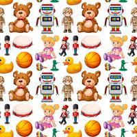 Seamless mönster av leksaker