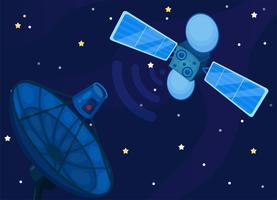 kommunikation satellit eller comsat. vektor