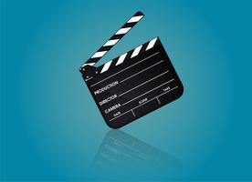Skiffer av regissörfilm. Illustration Vektor EPS10.