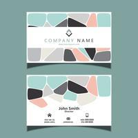 Visitenkarte mit einem abstrakten Design