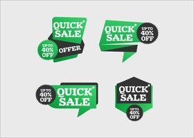 Kreative bunte Bänder des schnellen Verkaufs, die Kunst annoncieren