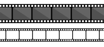Filmstreifensammlung. Vektorisolat auf weißem Hintergrund.