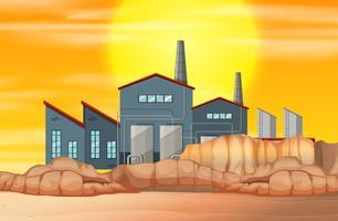 Fabriken i torrt land vektor
