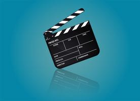PrintSlate des Regisseurfilms. Abbildung Vektor eps10.