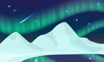 Aurora, Polarlicht, Nordlicht oder Südlicht ist ein natürliches Licht am Himmel der Erde. vektor