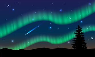 Aurora, Polarlicht, Nordlicht oder Südlicht ist ein natürliches Licht am Himmel der Erde.